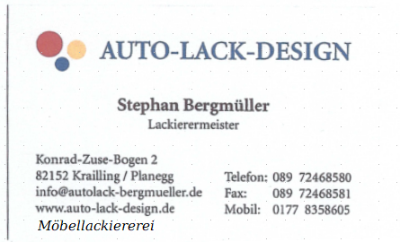 Auto-Lack-Design Bergmüller, Planegg